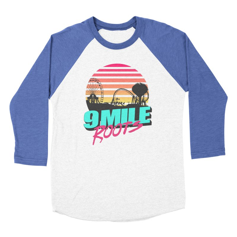 9 Mile Roots Ocean City Men's Baseball Triblend Longsleeve T-Shirt by MD Design Labs's Artist Shop