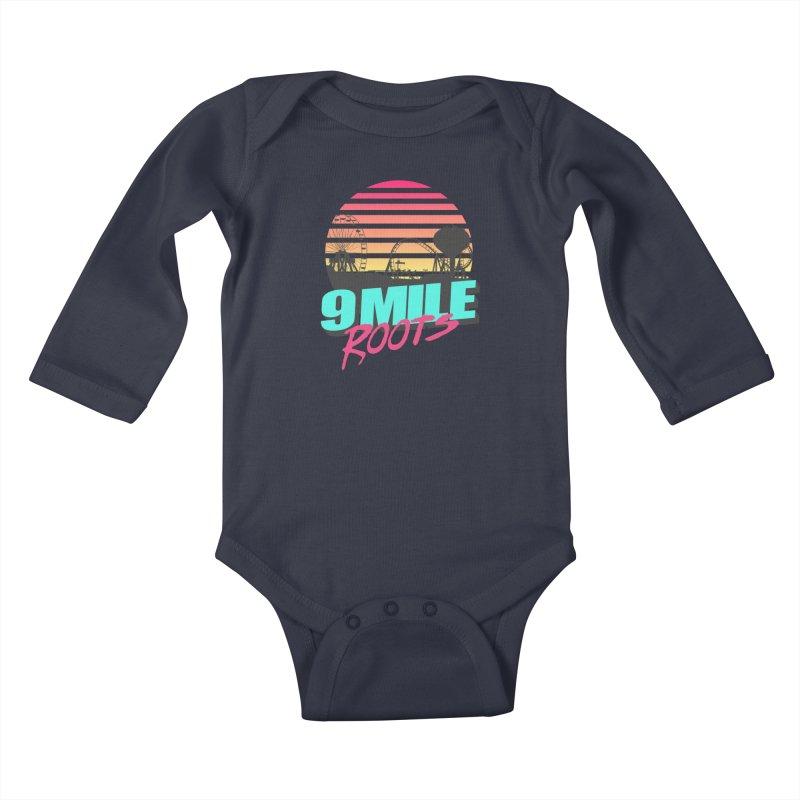 9 Mile Roots Ocean City Kids Baby Longsleeve Bodysuit by MD Design Labs's Artist Shop