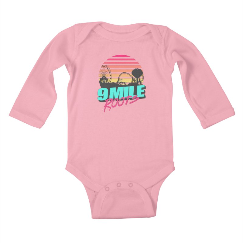 9 Mile Roots Ocean City Kids Baby Longsleeve Bodysuit by MD Design Labs's Artist Shop