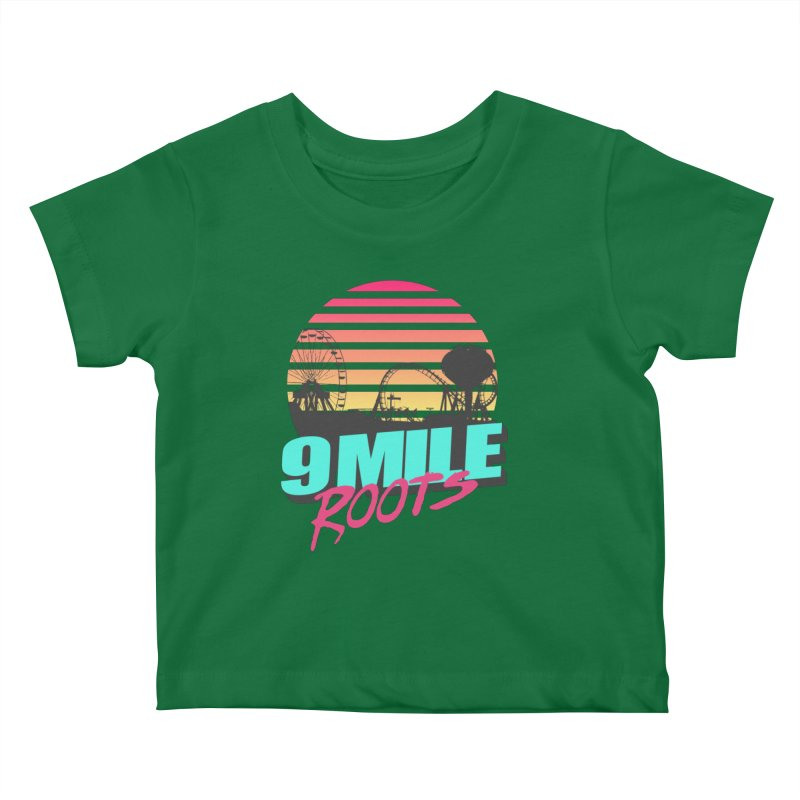 9 Mile Roots Ocean City Kids Baby T-Shirt by MD Design Labs's Artist Shop