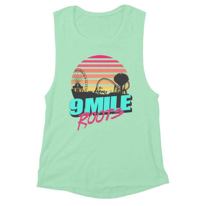9 Mile Roots Ocean City Women's Muscle Tank by MD Design Labs's Artist Shop