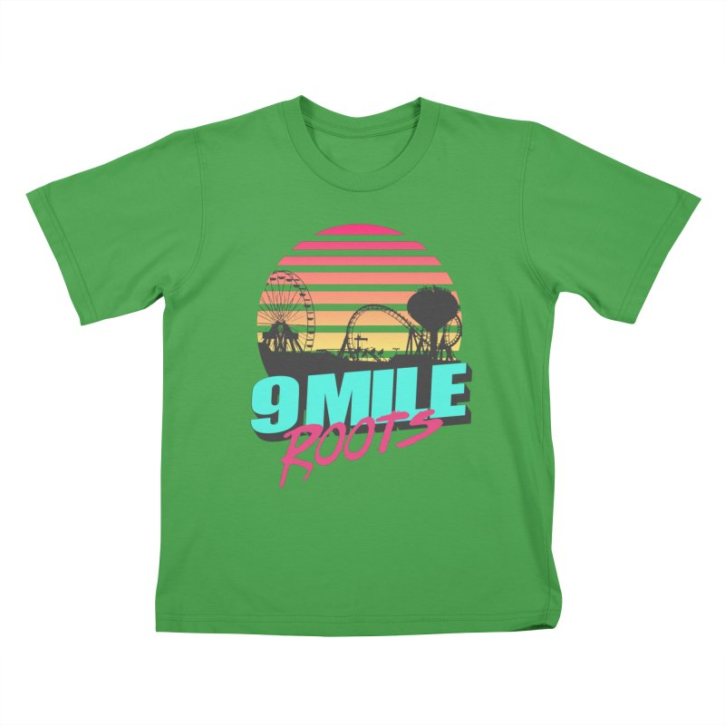 9 Mile Roots Ocean City Kids T-Shirt by MD Design Labs's Artist Shop