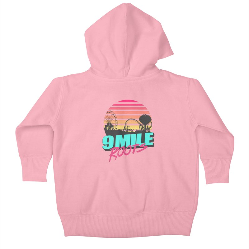 9 Mile Roots Ocean City Kids Baby Zip-Up Hoody by MD Design Labs's Artist Shop