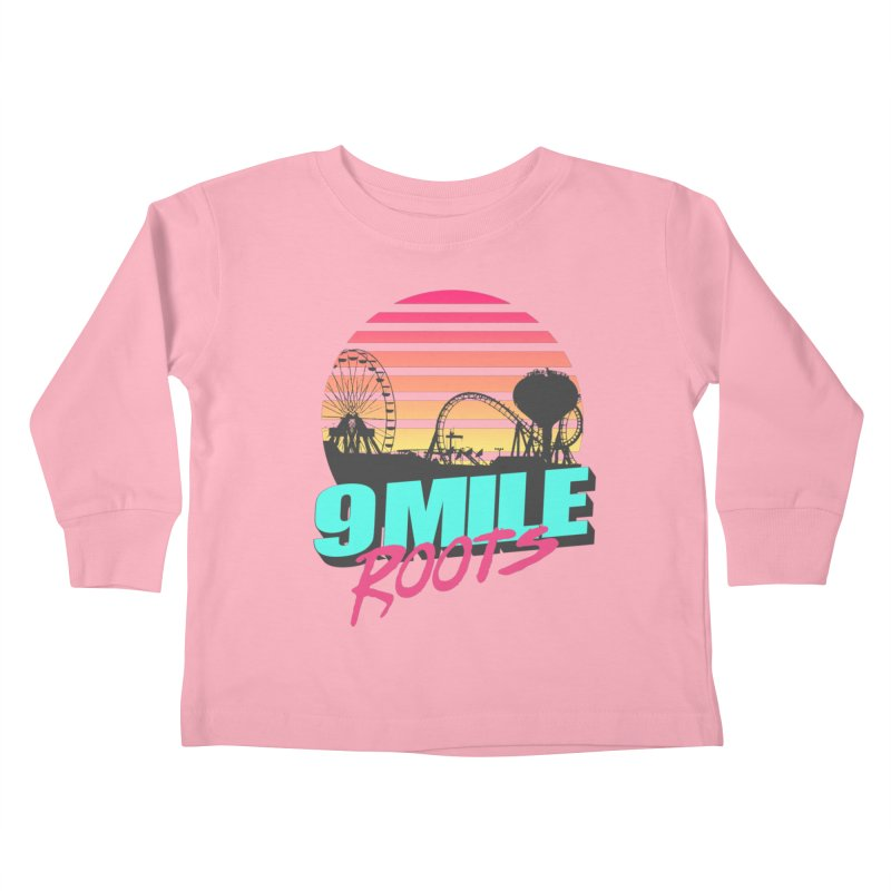 9 Mile Roots Ocean City Kids Toddler Longsleeve T-Shirt by MD Design Labs's Artist Shop