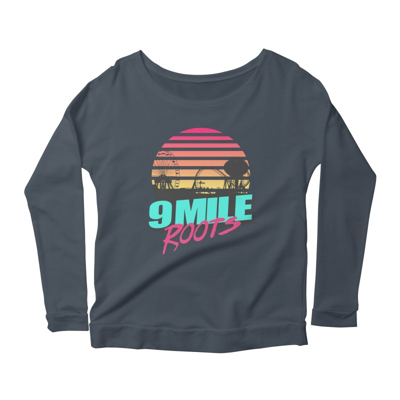 9 Mile Roots Ocean City Women's Scoop Neck Longsleeve T-Shirt by MD Design Labs's Artist Shop
