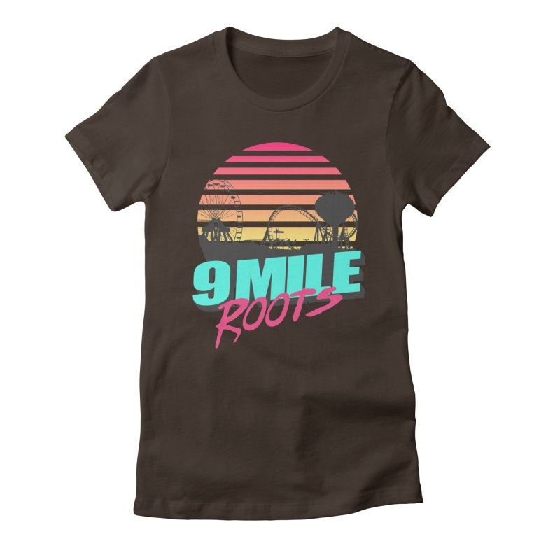 9 Mile Roots Ocean City Women's Fitted T-Shirt by MD Design Labs's Artist Shop