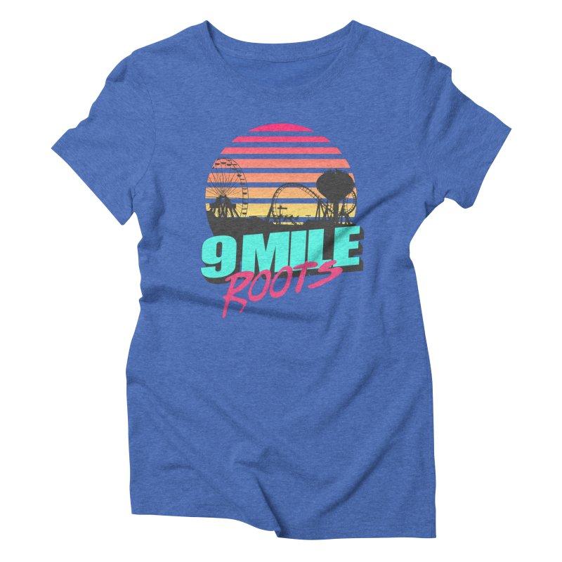 9 Mile Roots Ocean City Women's Triblend T-Shirt by MD Design Labs's Artist Shop