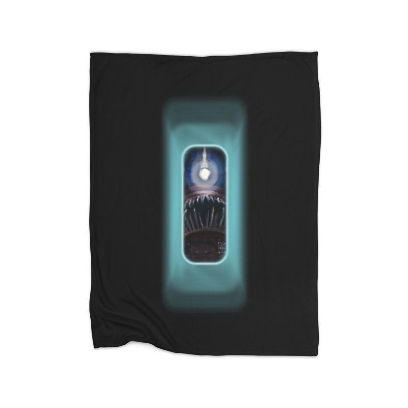 Three Crows Angler Inside Home Fleece Blanket Blanket by MD Design Labs's Artist Shop