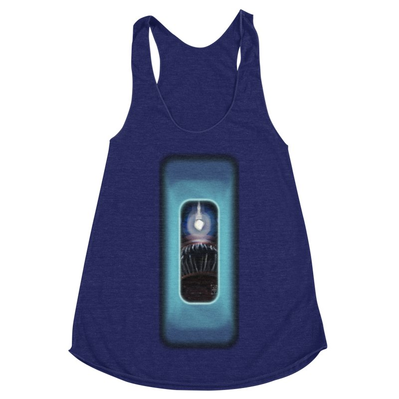 Three Crows Angler Inside Women's Racerback Triblend Tank by MD Design Labs's Artist Shop