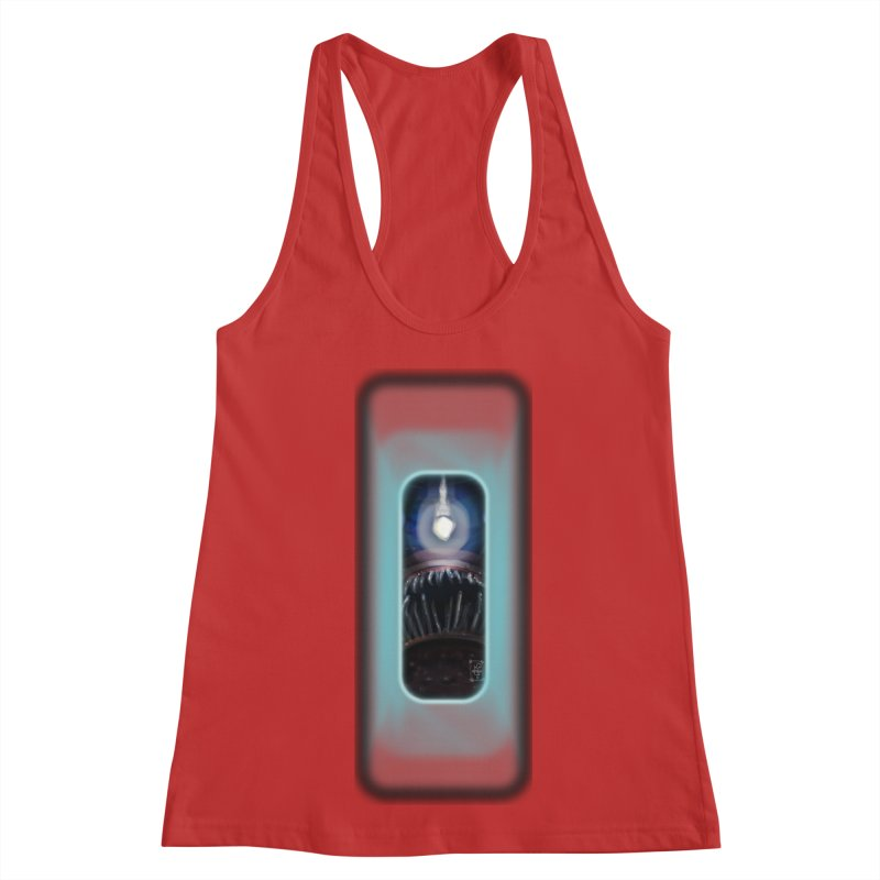 Three Crows Angler Inside Women's Racerback Tank by MD Design Labs's Artist Shop