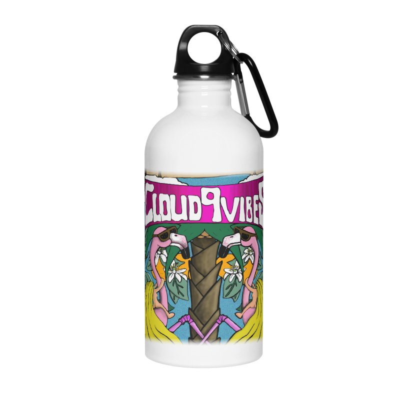 Cloud9 Vibes Flamingo Design Accessories Water Bottle by MD Design Labs's Artist Shop