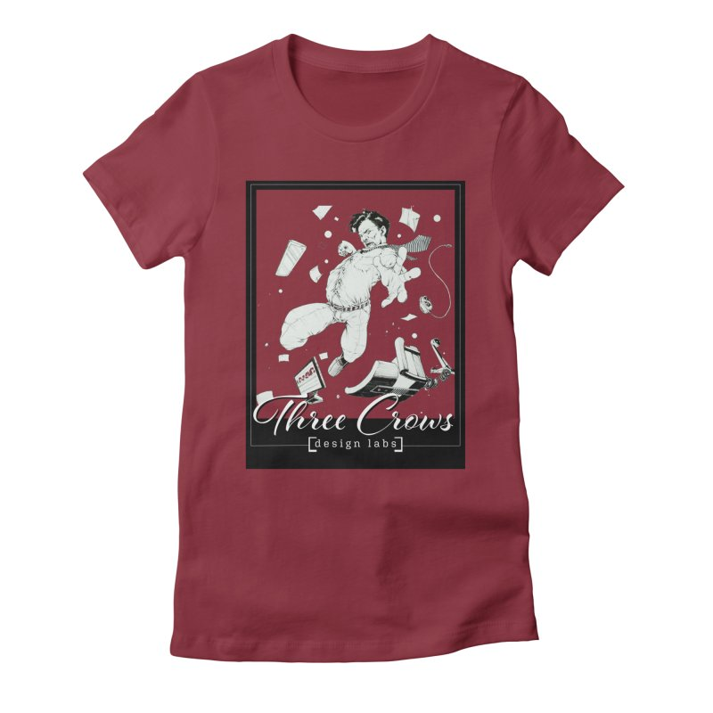 "Three Crows Design Labs ""Office Bad Guy"" Design Women's Fitted T-Shirt by MD Design Labs's Artist Shop"