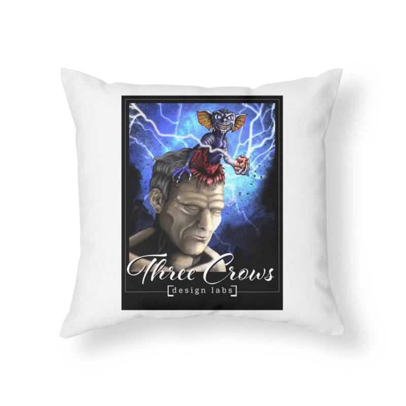 Three Crows Design Labs Gremlin Home Throw Pillow by MD Design Labs's Artist Shop