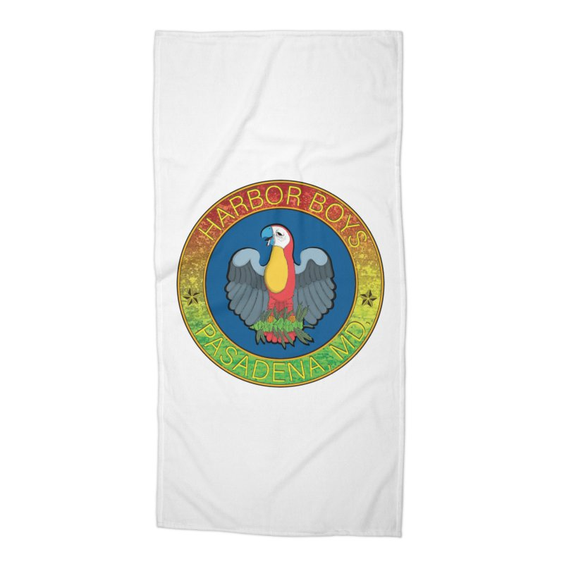 Harbor Boys Parrot Accessories Beach Towel by MD Design Labs's Artist Shop