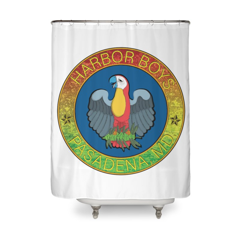 Harbor Boys Parrot Home Shower Curtain by MD Design Labs's Artist Shop