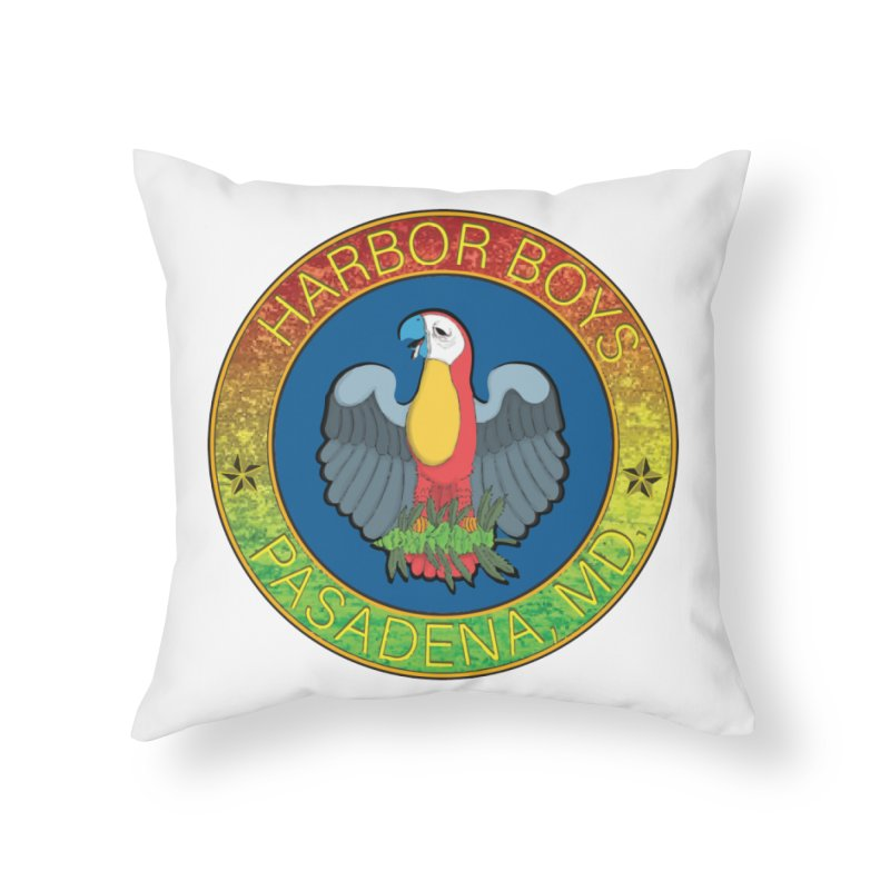 Harbor Boys Parrot Home Throw Pillow by MD Design Labs's Artist Shop