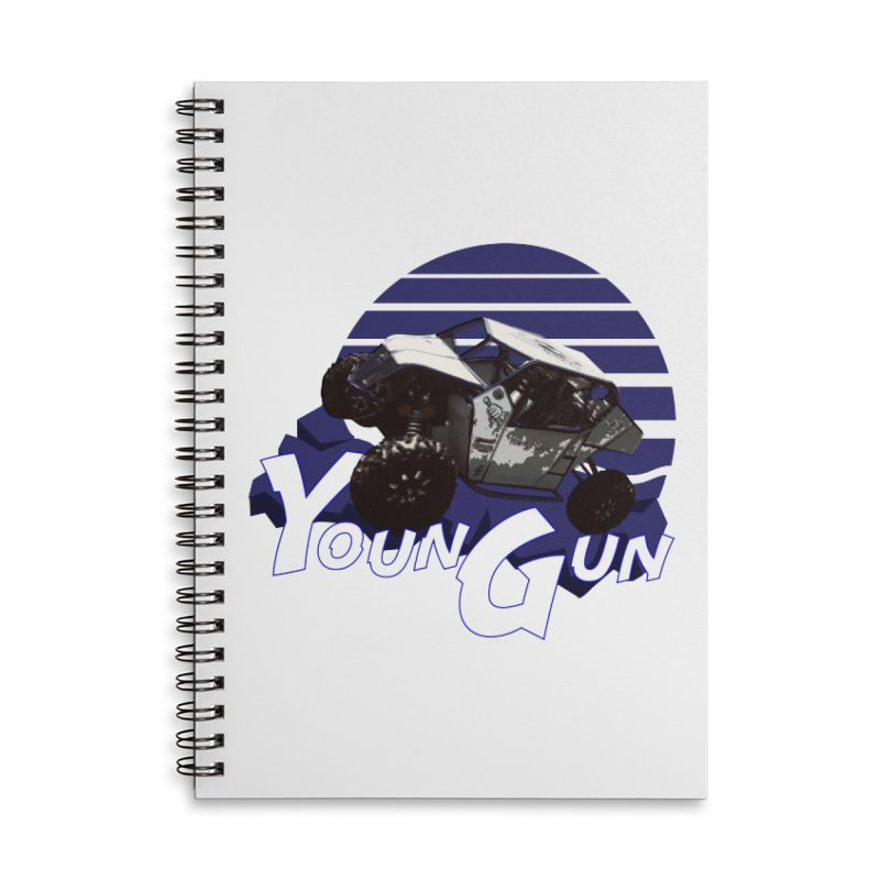 Young Gun Accessories Lined Spiral Notebook by MD Design Labs's Artist Shop
