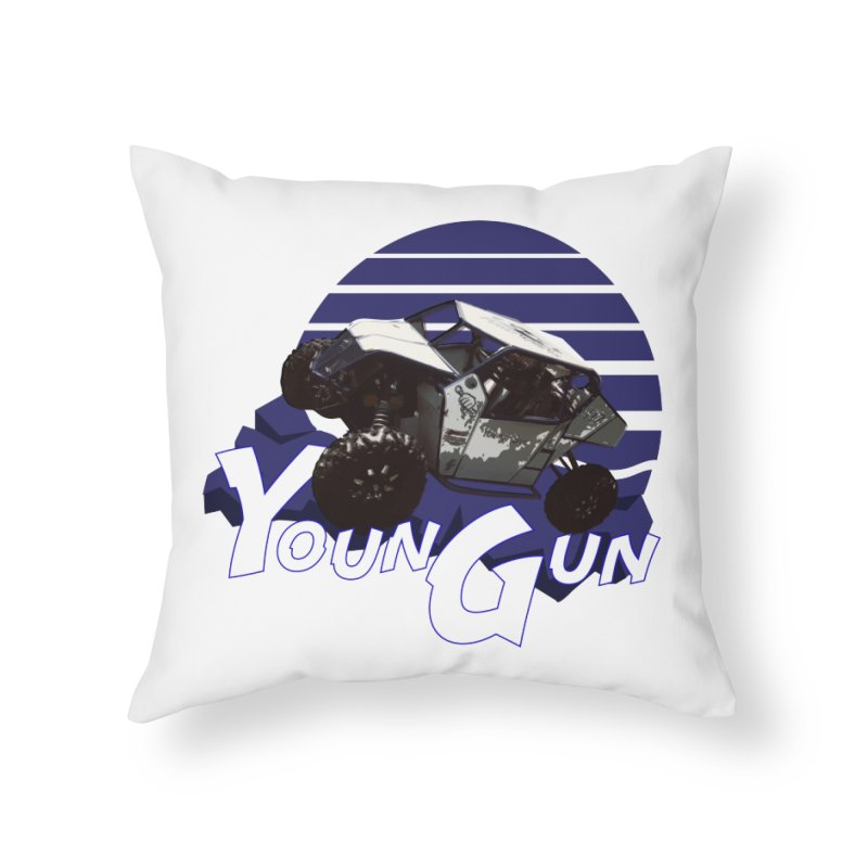Young Gun Home Throw Pillow by MD Design Labs's Artist Shop