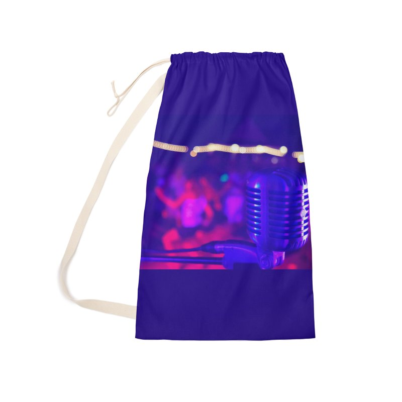 Get on the Mic Accessories Laundry Bag Bag by MD Design Labs's Artist Shop