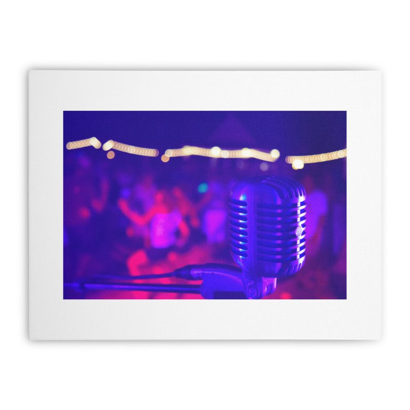 Get on the Mic Home Stretched Canvas by MD Design Labs's Artist Shop