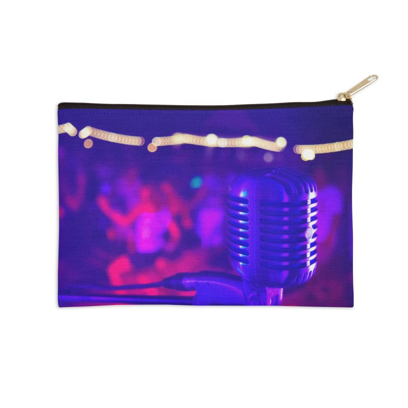Get on the Mic Accessories Zip Pouch by MD Design Labs's Artist Shop