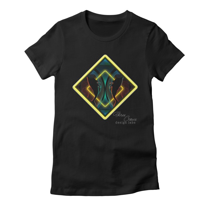 Whales Women's Fitted T-Shirt by MD Design Labs's Artist Shop