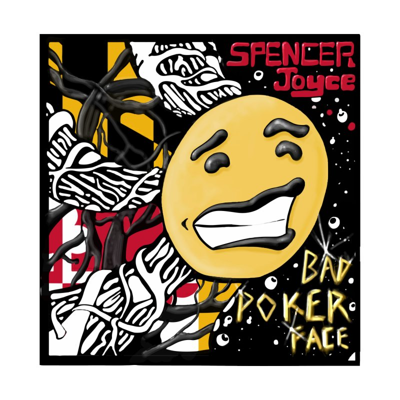Spencer Joyce Bad Poker Face Men's T-Shirt by MD Design Labs's Artist Shop