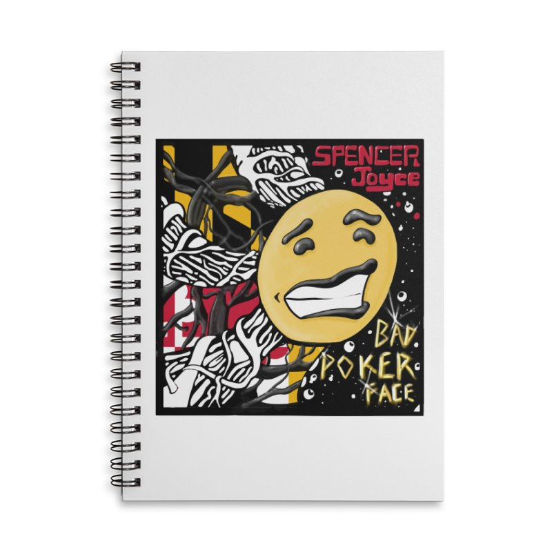 Spencer Joyce Bad Poker Face Accessories Lined Spiral Notebook by MD Design Labs's Artist Shop