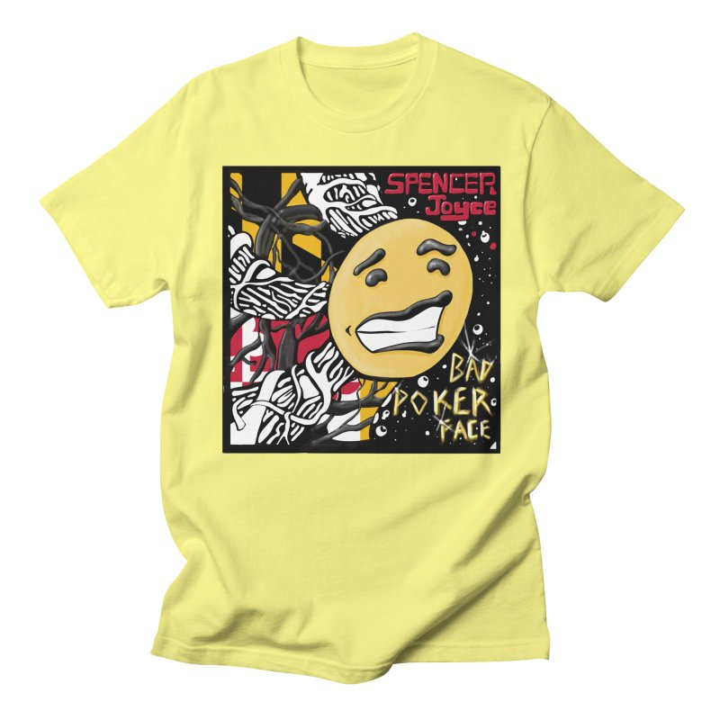 Spencer Joyce Bad Poker Face Men's T-Shirt by MD Design Labs's Artist Shop