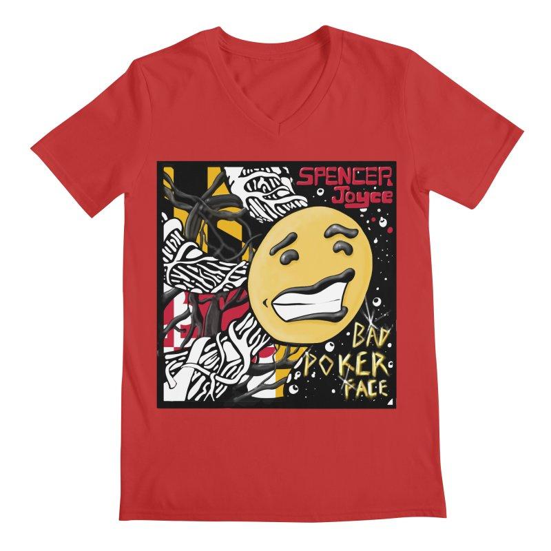 Spencer Joyce Bad Poker Face Men's Regular V-Neck by MD Design Labs's Artist Shop