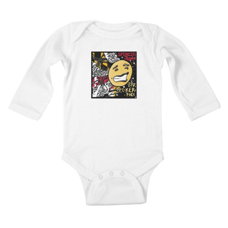 Spencer Joyce Bad Poker Face Kids Baby Longsleeve Bodysuit by MD Design Labs's Artist Shop