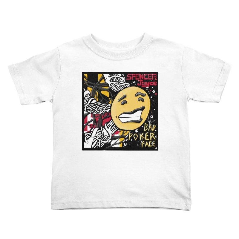 Spencer Joyce Bad Poker Face Kids Toddler T-Shirt by MD Design Labs's Artist Shop