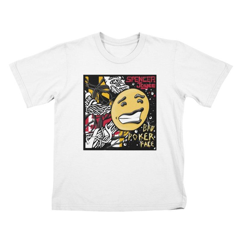 Spencer Joyce Bad Poker Face Kids T-Shirt by MD Design Labs's Artist Shop