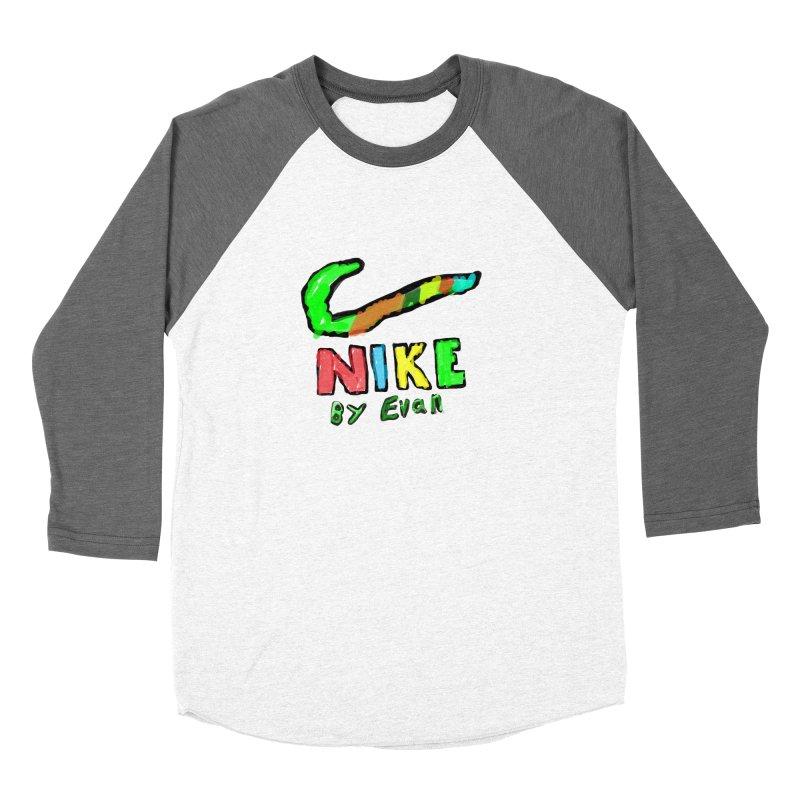 Nike by Evan Men's Baseball Triblend Longsleeve T-Shirt by MD Design Labs's Artist Shop