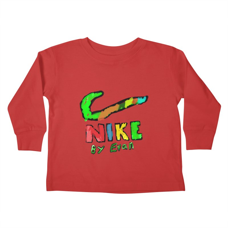 Nike by Evan Kids Toddler Longsleeve T-Shirt by MD Design Labs's Artist Shop