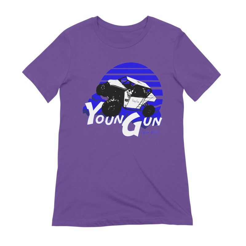 Young Gun Women's Extra Soft T-Shirt by MD Design Labs's Artist Shop