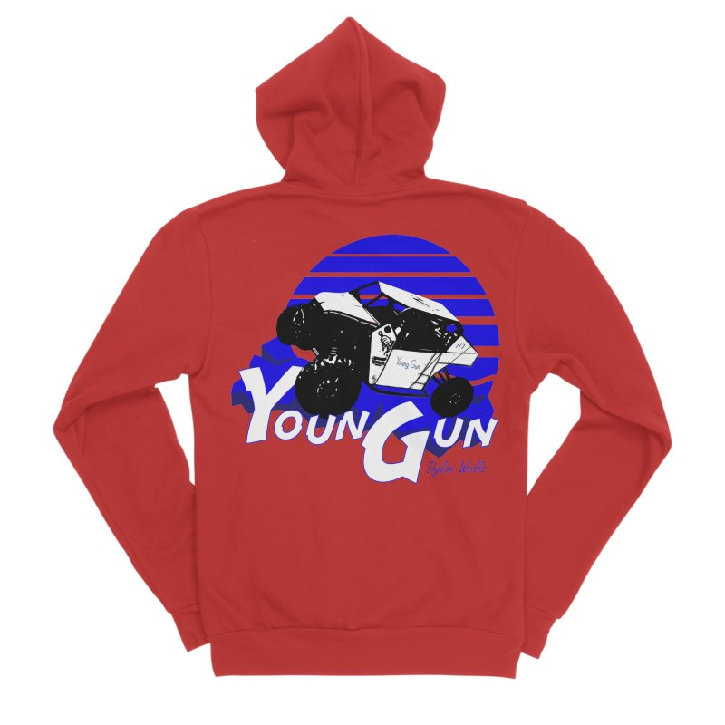 Young Gun Women's Sponge Fleece Zip-Up Hoody by MD Design Labs's Artist Shop