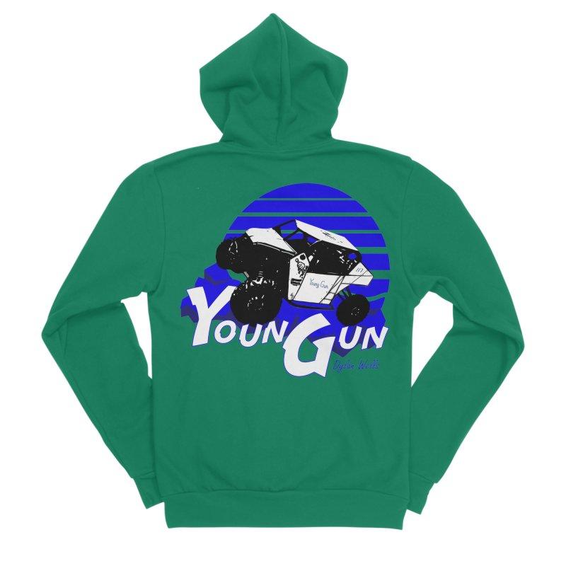 Young Gun Men's Sponge Fleece Zip-Up Hoody by MD Design Labs's Artist Shop