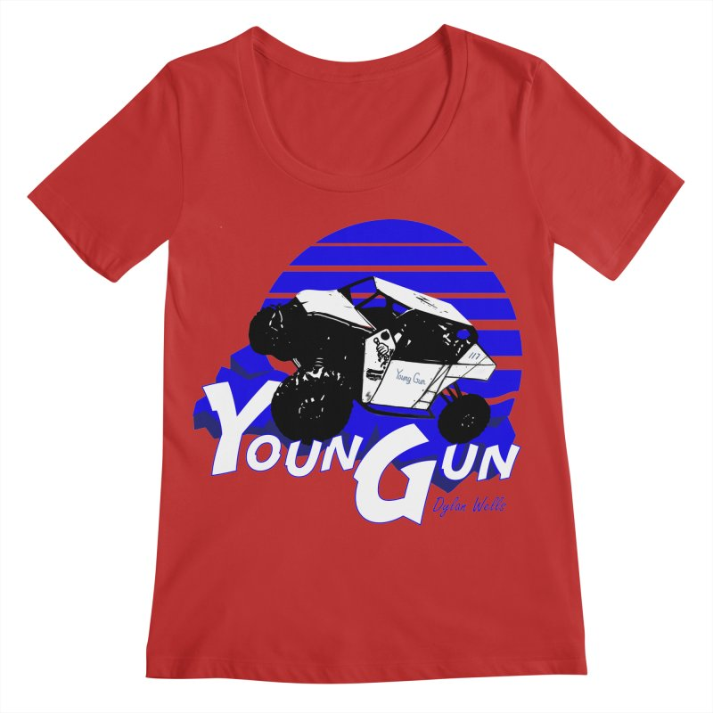 Young Gun Women's Regular Scoop Neck by MD Design Labs's Artist Shop