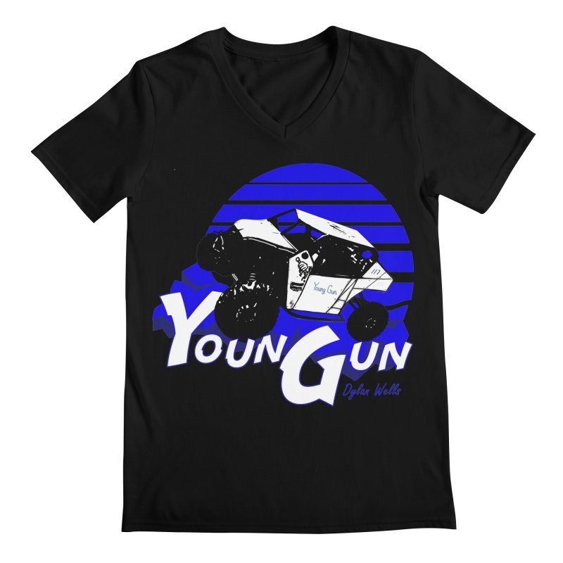 Young Gun Men's Regular V-Neck by MD Design Labs's Artist Shop