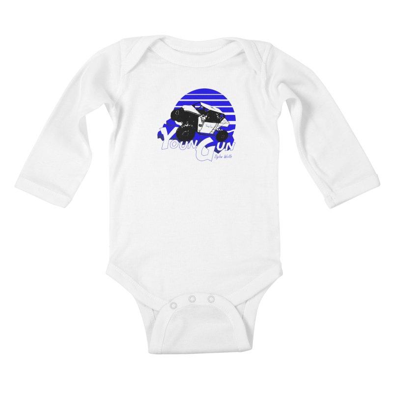 Young Gun Kids Baby Longsleeve Bodysuit by MD Design Labs's Artist Shop