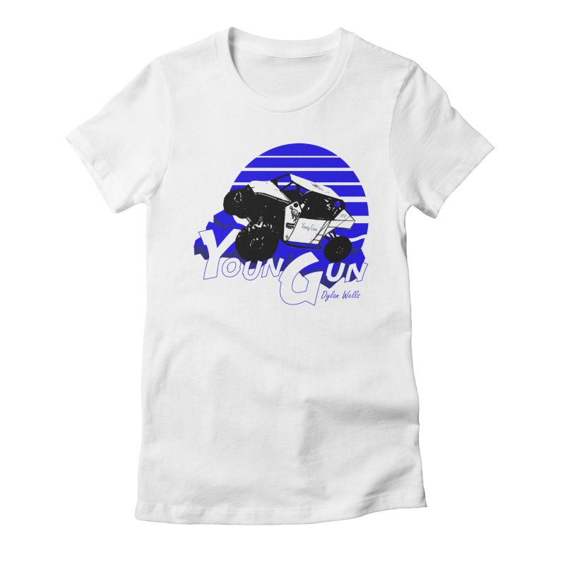 Young Gun Women's Fitted T-Shirt by MD Design Labs's Artist Shop