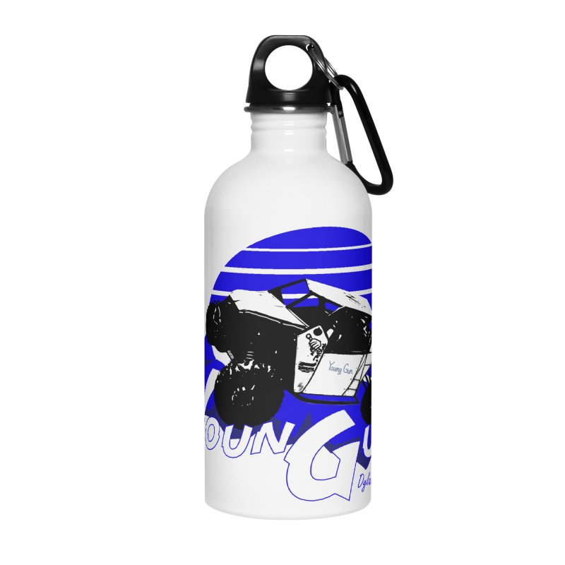 Young Gun Accessories Water Bottle by MD Design Labs's Artist Shop