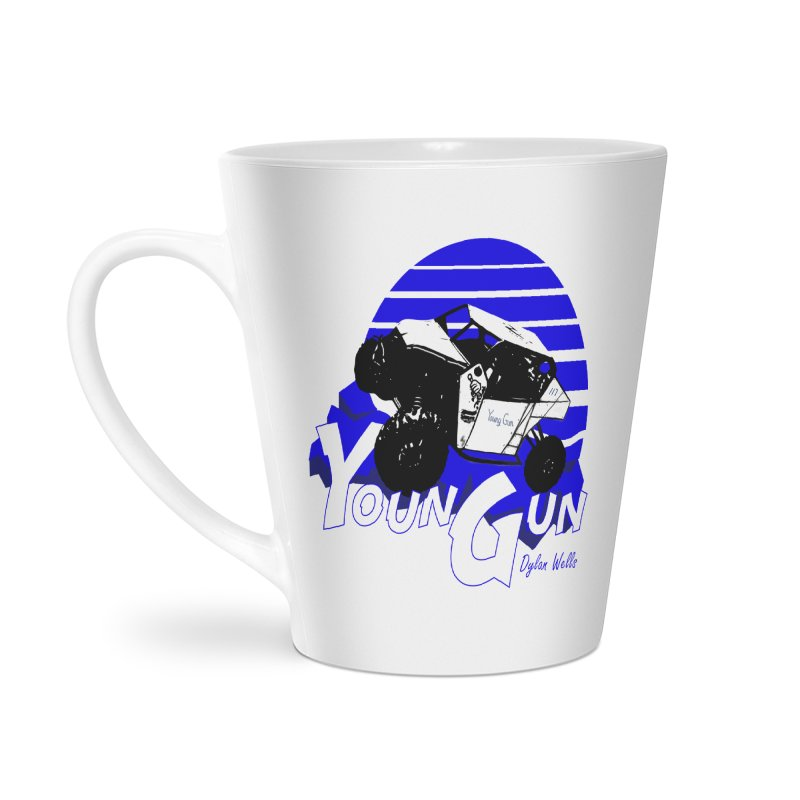 Young Gun Accessories Latte Mug by MD Design Labs's Artist Shop