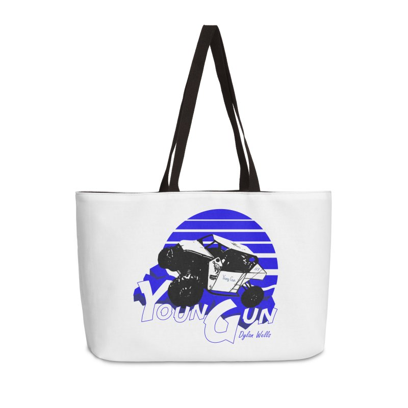 Young Gun Accessories Weekender Bag Bag by MD Design Labs's Artist Shop