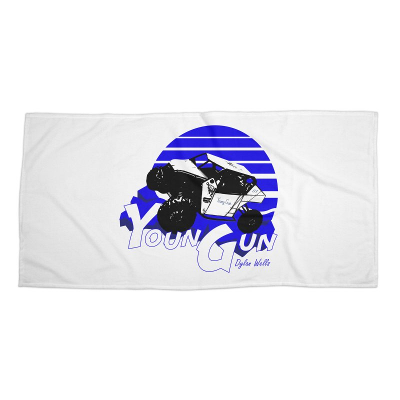 Young Gun Accessories Beach Towel by MD Design Labs's Artist Shop