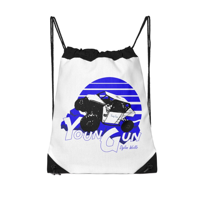 Young Gun Accessories Drawstring Bag Bag by MD Design Labs's Artist Shop