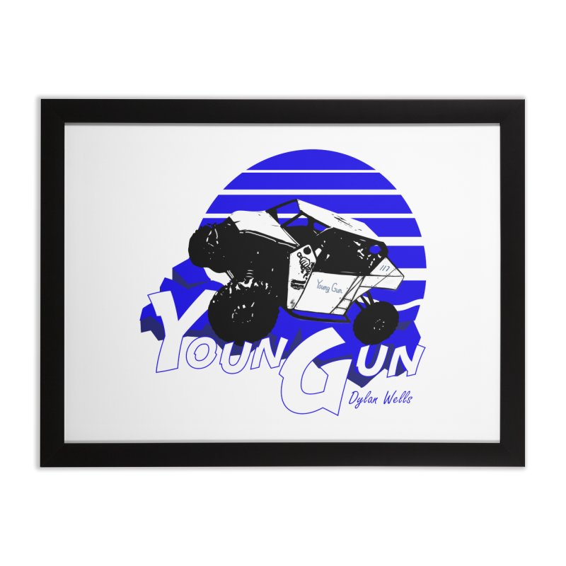 Young Gun Home Framed Fine Art Print by MD Design Labs's Artist Shop