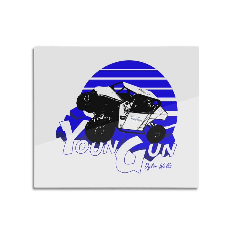 Young Gun Home Mounted Aluminum Print by MD Design Labs's Artist Shop