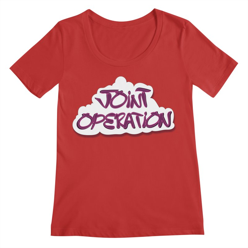 Joint Operation Clouds Women's Regular Scoop Neck by MD Design Labs's Artist Shop